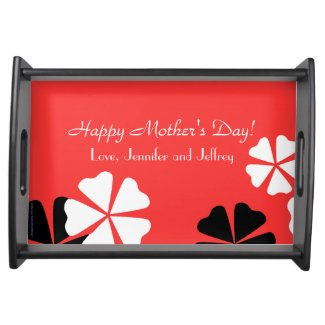 Mother's Day Serving Tray Red Floral