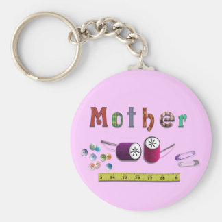 Mother's Day  Sewiing Materials Basic Round Button Keychain