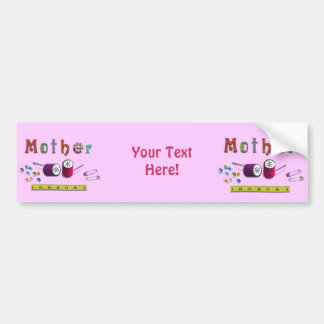 Mother's Day  Sewiing Materials Car Bumper Sticker