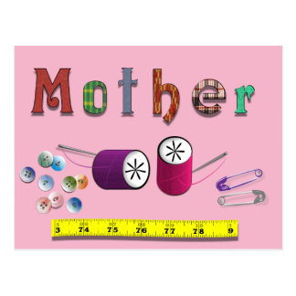 Mother's Day Sewing Materials Postcard