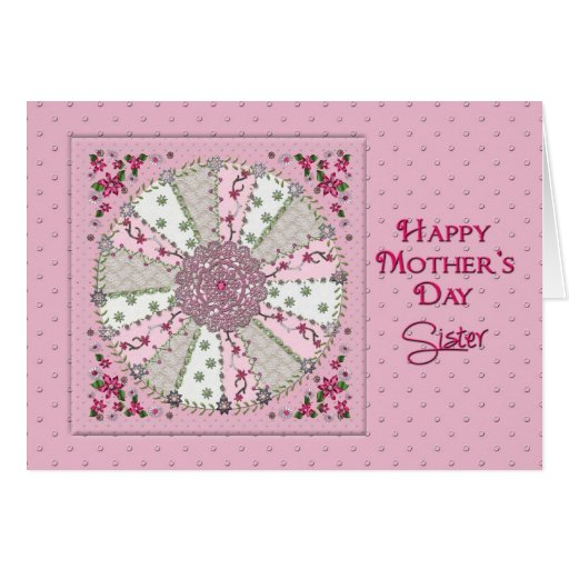 MOTHER'S DAY - SISTER - PRETTY IN PINK GREETING CARD