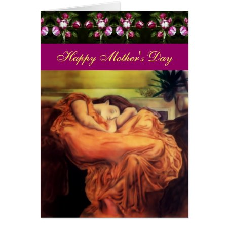 Mothers Day Sleeping Lady greetings card