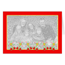 Mother's Day Smiling Flowers Photo Frame Card
