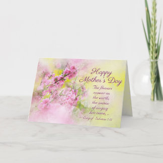 Mother's Day Song of Solomon 2:12 Bible Verse Card