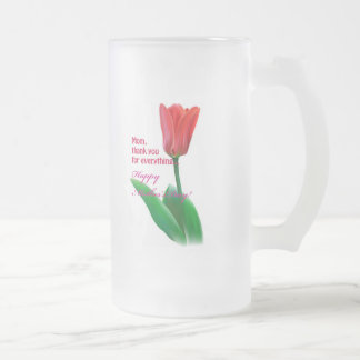 Mother's Day Special Frosted Glass Beer Mug