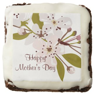 Mothers Day Spring Cherry Blossoms Brownies