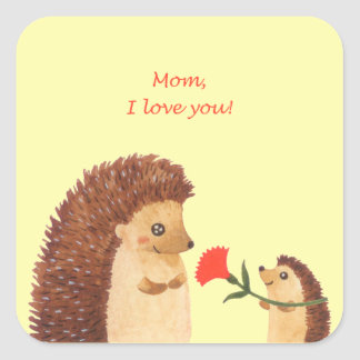 Mother's day Square Stickers, Glossy Square Sticker