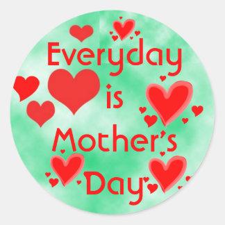 Mother's Day stickers Round Sticker