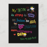 Mother's Day | Strong, Brave, & Fearless Invitation Postcard
