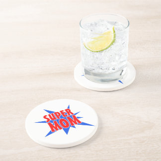 Mother's Day Super Mom Drink Coaster