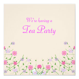 Mothers day tea party card