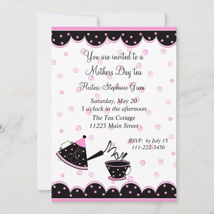 Floral Laser Cut Tea Party Invitations Mother/'s Day Tea Party Die Cut Laser Cut Rustic Tea Party Invites Laser Cut