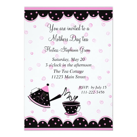 Mother S Day Tea Party Invitation Zazzle Com