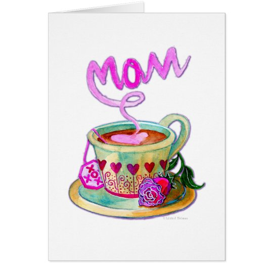 Mother's Day Teacup with Hearts for Mom Card