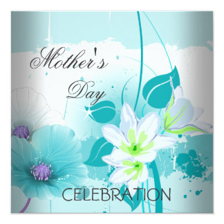 Mother's Day Teal Lilac Flowers Card