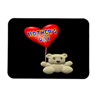 Mothers Day Teddy Bear Balloon Magnet