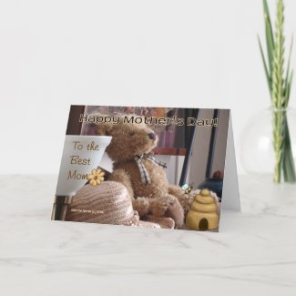 Mother's Day - Teddy Bear - Card - Customize zazzle_card