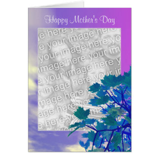 Mother's Day Tree-Top photo frame Card