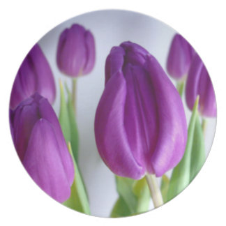 Mother's Day Tulips Plate