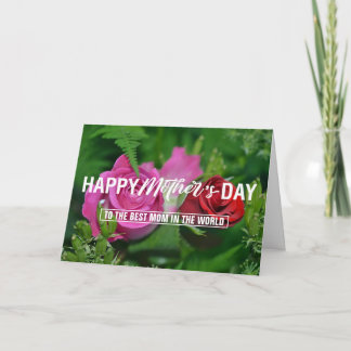 Mother's Day Typography Photo Card