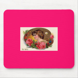 Mother's Day Victorian Lady & Roses Mouse Pad