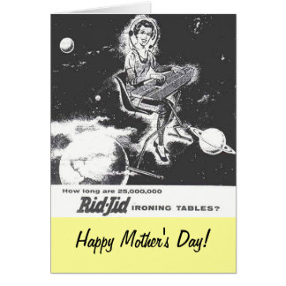 Mother's Day Vintage 1950 Ironing Board Ad Card