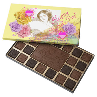Mothers Day Vintage Fan Lady Box of Chocolates
