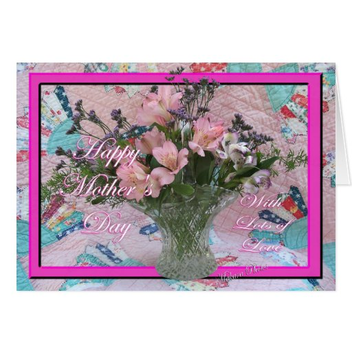Mother's Day vintage quilt card