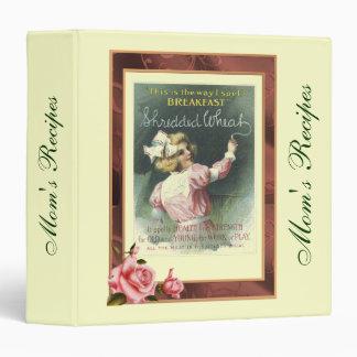 Mother's Day Vintage Recipe Album 3 Ring Binder
