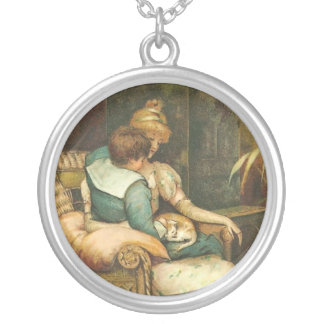 Mother's Day Vintage Round Pendant Necklace