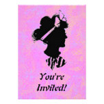 Mother's Day Vintage Woman Silhouette Invitation