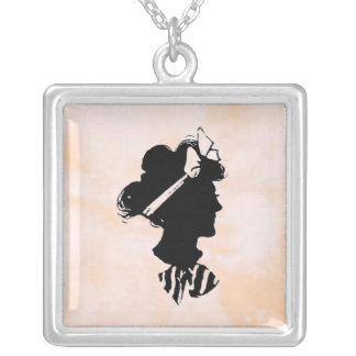 Mother's Day Vintage Woman Silhouette Jewelry