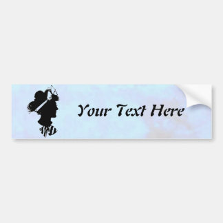 Mother's Day Vintage Woman Silhouette on Blue Car Bumper Sticker