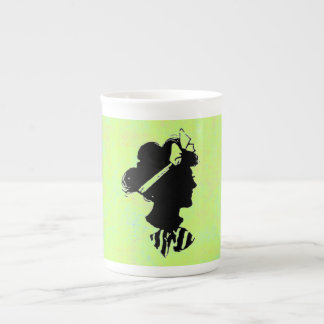 Mother's Day Vintage Woman Silhouette Tea Cup