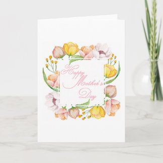 Mother's Day watercolor floral Card