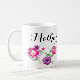 Mother's Day Watercolor Flowers Mug