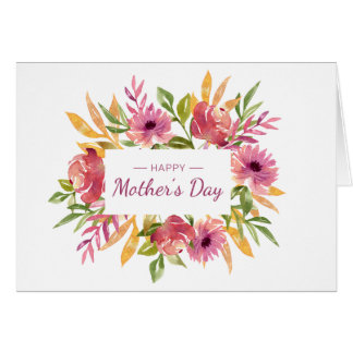 Mother's Day Watercolor Photo Card