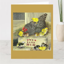 Mother's Day:  We Love Mom! Card