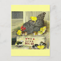 Mother's Day:  We Love Mom! Postcard