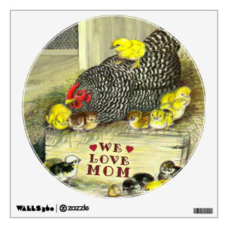 Mother's Day:  We Love Mom! Wall Graphics
