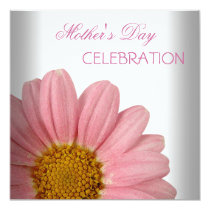Mother's Day White Pink floral Flowers Invitation