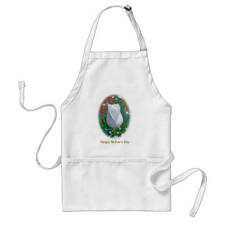 Mother's Day White Rose Cards & Gifts Apron