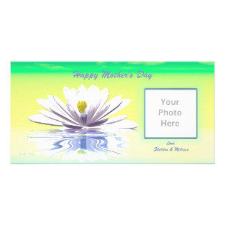 Mother's Day White Water Lily Card