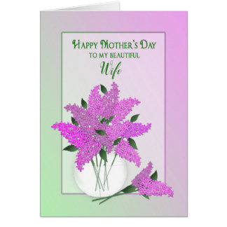 Mother's Day, Wife, Lilacs in a Vase