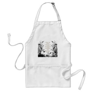 Mother's day wishes black Abusive Adult Apron