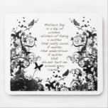 Mother's day wishes black Abusive Mouse Mats