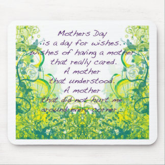 Mother's day  wishes green yellow mouse pad