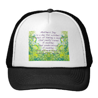 Mother's day  wishes green yellow trucker hat