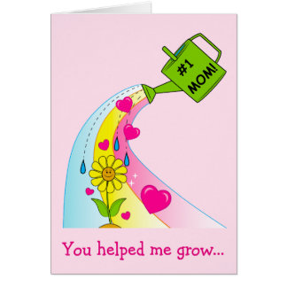 Mother's Day with Flower & Hearts Card