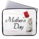 Mothers Day with Red Tulip Laptop Computer Sleeve